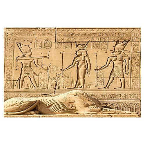 EdCott Decoración egipcia Retro Antiguo Templo Egipto faraón Alfombras baño Alfombrilla baño...
