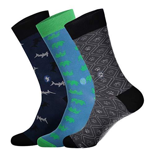 Conscious Step Organic Cotton Fairtrade Vegan Socken Geschenkbox, 3 Stück -  mehrfarbig -  Large