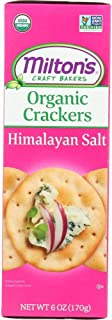 Milton's Organic Crackers (Himalayan Salt). Healthy and Wholesome Multi-Pack Non-GMO Baked Crackers (Pack of 3, 6.0 ounce).