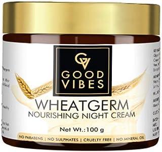 Good Vibes Wheatgerm Nourishing Night Cream, 100 g Deep Moisturization, Healing Formula For Dry Skin, Helps Reduce Acne, W...