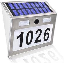 Huis Nummer Deurplaat Digitale Zonne-Licht LED Deurnummer Adres Digert Wall Mount Number LED Light Motion Sensor Deurplaat