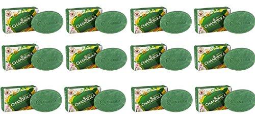 Lot de 12 savons yurvédique Chandrika classique 70 g x 12 pièces = 840 g.