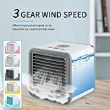 Portable Mini Air Conditioner Cooling Fan, USB Small Desktop Air Cooler, Low Noise, Low Power Consumption, Small Size, Strong Air Volume, Simple Operation, Suitable for Home/Office/Baby Room