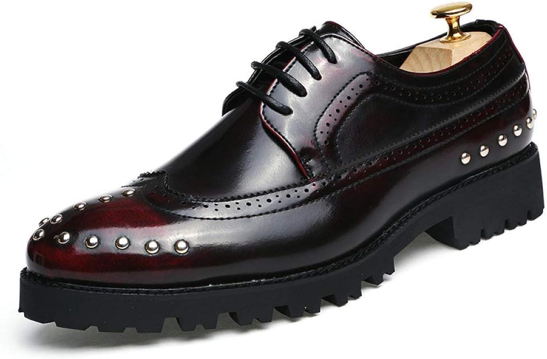 LYZGF Männer Jugend Vier Jahreszeiten Business Casual Fashion Friseur Spitz Schnürung Lederschuhe  | Günstige Bestellung