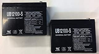 Universal Power Group UB12100-S Schwinn S500 12V 10AH SLA Battery - 2 Pack