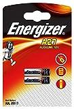 2 Energizer A27 / 27A / MN27 12 Volt Alkaline Alkali Batterien, 2 x 1-er Pack, Lange Haltbarkeit (Haltbarkeitsdatum markiert)