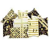 Papierdrachen 24 Adventskalender Pillowboxen - mit Washitape und goldenen Zahlenaufklebern - 24...