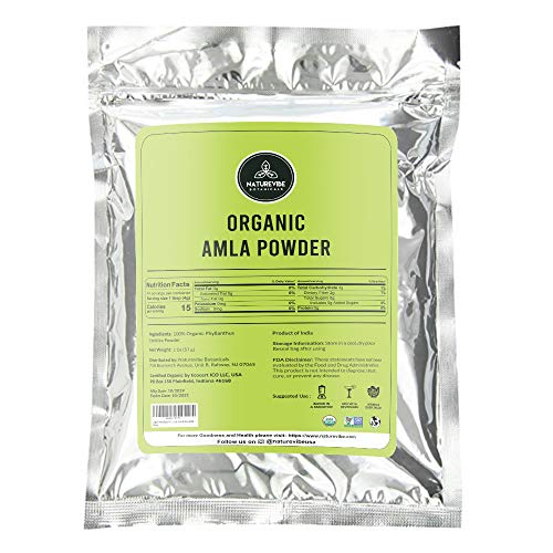 Naturevibe Botanicals Organic Amla Berry Powder 2 Ounces | Gluten-Free, Raw & Non-GMO | Hair Care | Great Source of Vitamin C