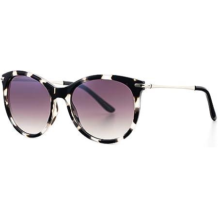 styleBREAKER Lunettes de soleil pour dames Oversize avec verres ovales en polycarbonate et monture en plastique Retro Style 09020092