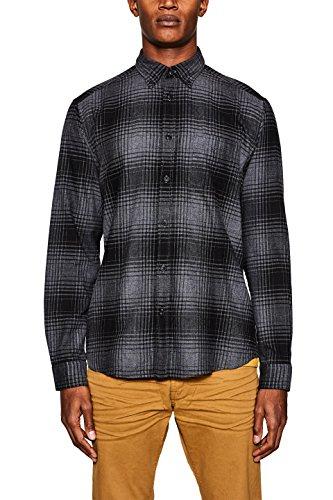 Esprit 127ee2f003 Camisa, Gris (Anthracite 010), Medium para Hombre