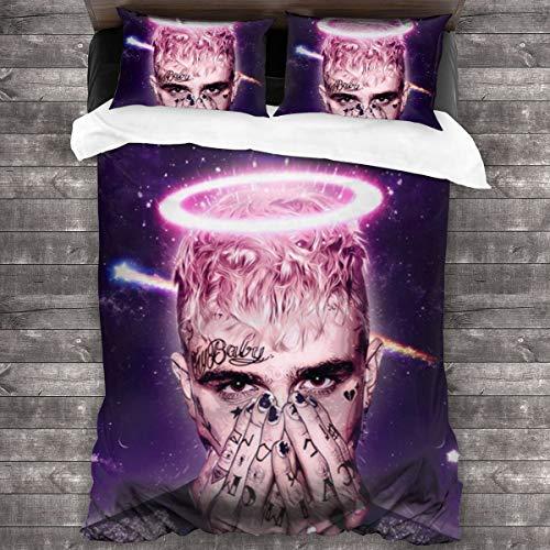 "Have-Fun Best Lil Hip Hop Rap Peep Bedding Comforter Set Full 3 Piece Bed Sets Soft Comfy Microfiber Lightweight with 2 Pillowcase (86""x70)"