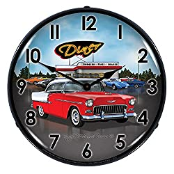 1955 Bel Air Diner Lighted Wall Clock