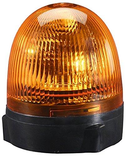 HELLA 2RL 009 506-211 Rundumkennleuchte - Rota Compact - 24V - Lichtscheibenfarbe: gelb - Anbau