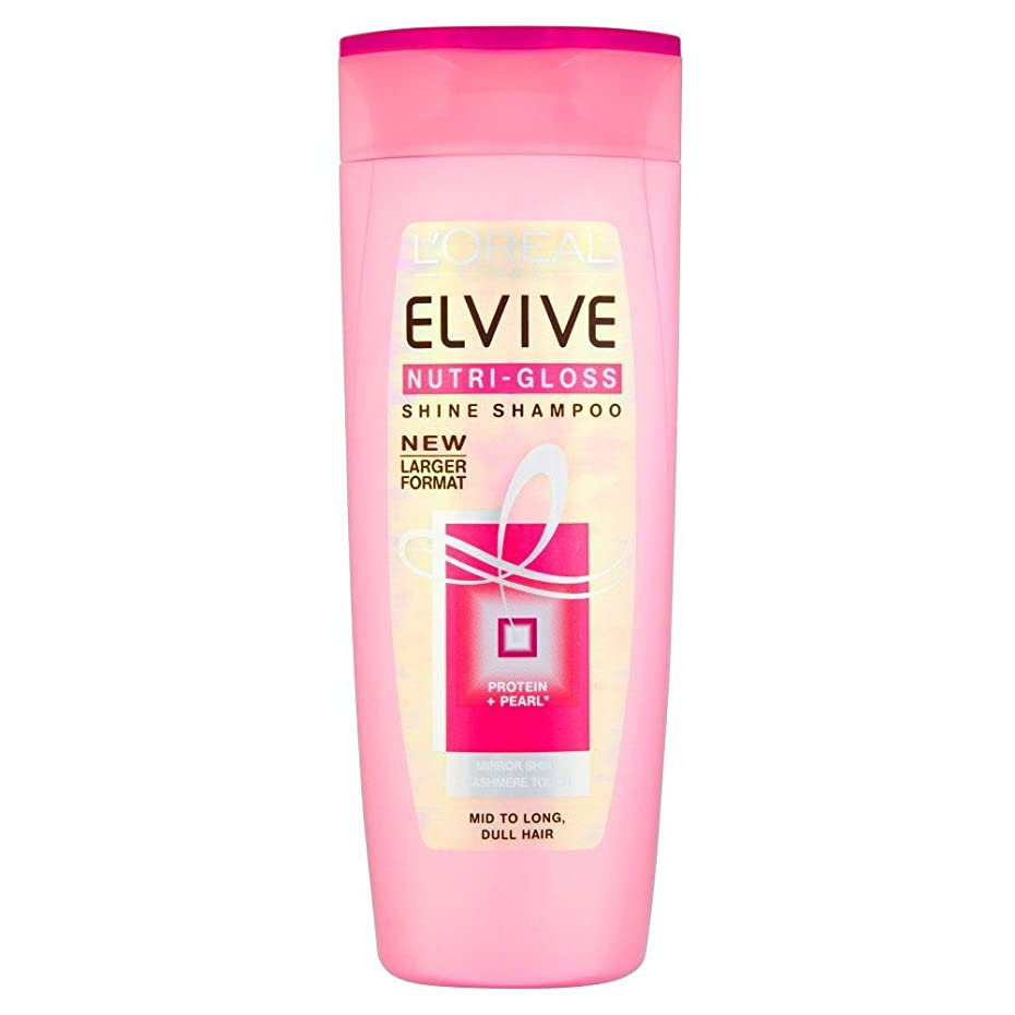 進行中一掃する魅惑的なL'Oreal Paris Elvive Nutri-Gloss Shine Shampoo (500ml) L'オラ?アルパリelviveのニュートリグロスシャインシャンプー( 500ミリリットル) [並行輸入品]