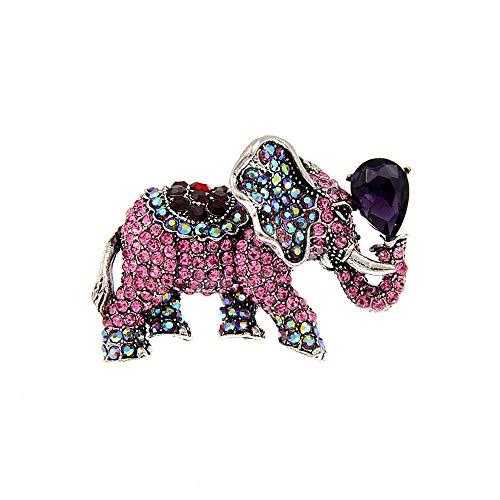 GLKHM Cráneo Broche Elefante Broches Mujeres Vintage Animal Pin Broche Accesorios