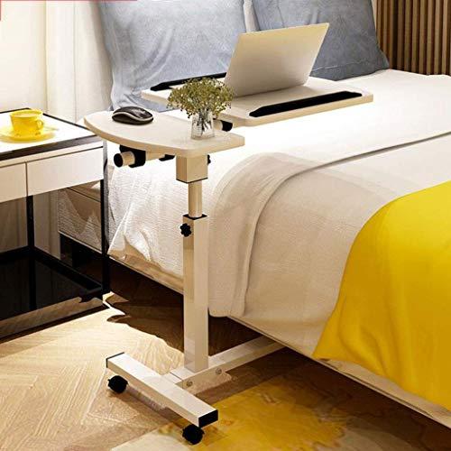 Decoración de muebles Mesa de sofá auxiliar Mesa de sofá Mesa de centro Mesa auxiliar en forma de C Mesa de acento de cabecera extraíble con marco de metal Ruedas giratorias Altura ajustable (Color