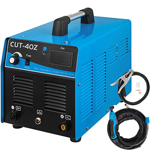Mophorn Plasma Cutter with Built-In Air Compressor 40 Amp, Portable Plasma Welder 220V, Plasma Cutting Machine IGBT Inverter, Digital Plasma Welding Machine(40 Amp with Air Compressor)
