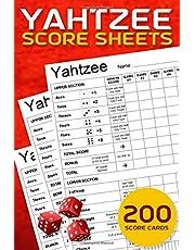Yahtzee Score Sheets: 200 Sheets for Score Keeping - Yahtzee Score Cards - Pads Size 6 x 9 inch - Yahtzee Score Pads
