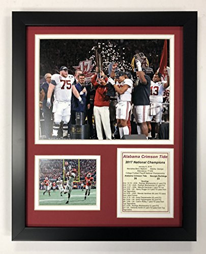 "Legends Never Die Alabama Crimson Tide - 2017 CFP National Champions - Framed 12""x15"" Double Matted Photos, Inc."