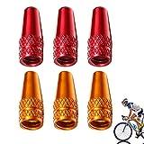 JiangLin Tappi per valvole per Pneumatici da Bicicletta Coprivalvola per Bicicletta Copri-valvola in Alluminio Francese Multicolore per Pneumatici da Bicicletta con parapolvere Francese.