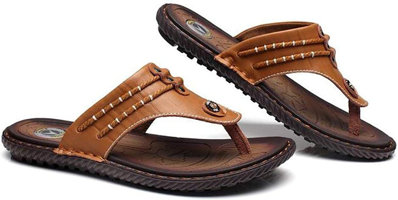 FuweiEncore Summer Sport Flip Flops Sandals Men's Open Toe Casual Transpireable Slipper, Black, 44 (color   Brown, Size   41)