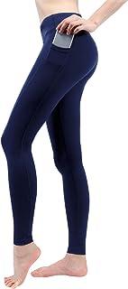 "TaiBid Women's Yoga Workout Leggings Two Side Pocket 5.5"" Mobile Phone, Size S-XL"