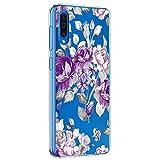 Riyeri Hülle Compatible with Samsung Galaxy A50 Hülle Cover Transparent Soft TPU Silikon Bumper Handyhülle für Samsung A50 Mobile Phone - Blume (A50, 21)