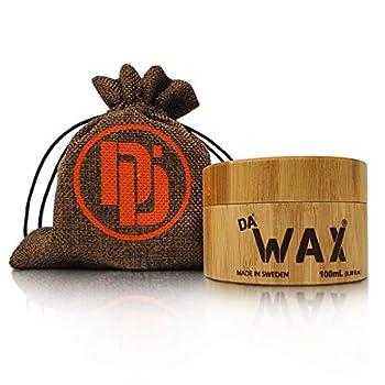 Da Dude Da Wax Styling Wax for Men Strong Hold Wax in Bamboo Tub & Hessian Gift Bag