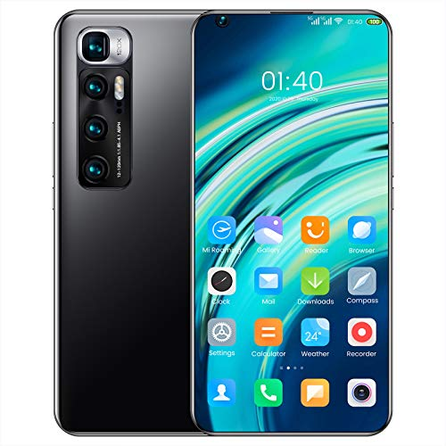 DEMAXIYA Teléfono Inteligente sin SIM, teléfonos móviles Android Baratos 4 / 5G con Pantalla de 6,8 Pulgadas, batería de 6000 mAh, Cuatro cámaras con Doble SIM, teléfonos móviles duraderos y Hermosos
