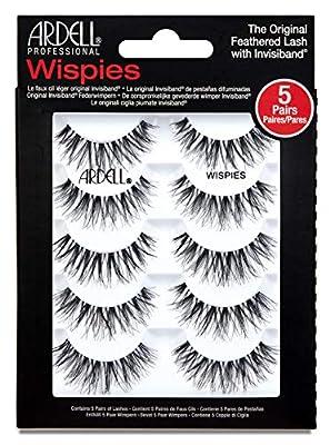 Ardell False Eyelashes Wispies Black, 1 pack (5 pairs per pack)