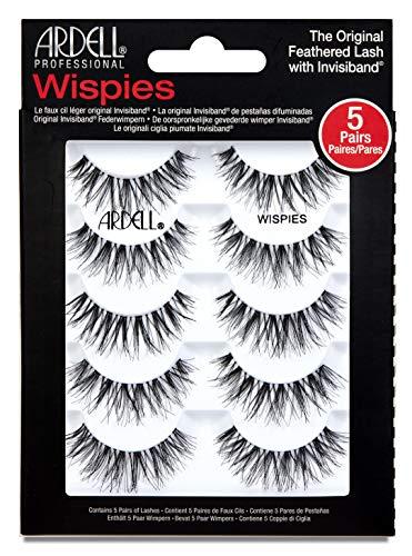 ARDELL Professional Wispies Lashes, Künstliche Wimpern aus Echthaar für einen natürlichen Look, 1 x 5 Paar (ohne Wimpernkleber)