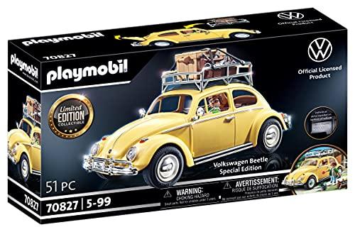 PLAYMOBIL 70827 Volkswagen Beetle como coche familiar amarillo, edición especial para aficionados y coleccionistas, 5 - 99 años