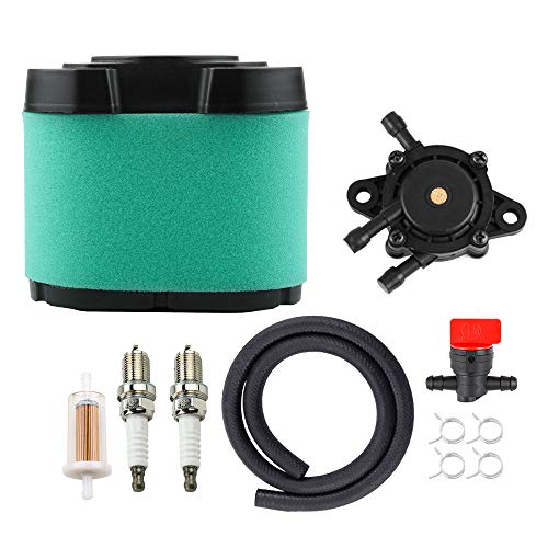 792105 792303 Air Filter 808656 691034 808281 692313 Fuel Pump for Briggs and Stratton V-Twin 16HP - 27HP Engine Troy-Bilt TB2454 TB2654 Craftsman YT4000 YT4500 GT5000 GT5600 Lawn Mower Tune Up Kit