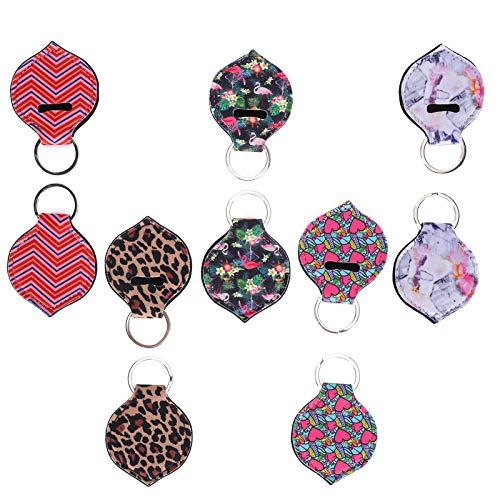 Porte-baume à lèvres porte-clés, porte-clés rouge à lèvres, beau caoutchouc durable pratique portable pour filles, femmes, amis, famille