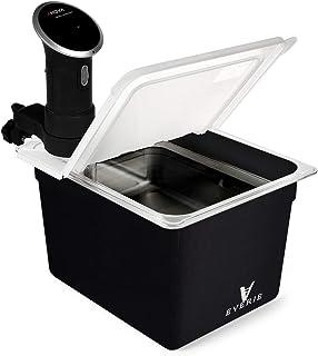 EVERIE Sous Vide Bundle Kit with Sous Vide Container 12 Quart, Collapsible Hinge Lid, Sous Vide Container Sleeve Compatibl...