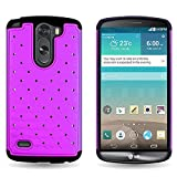 LG G3 Stylus Case (Purple/Black) by CoverON, [Aurora] Luxury Fashion Series with Diamond Bling Style and Phone Cover Armor Drop Protection - Note: Will NOT Fit LG G3 or G Stylo