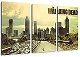 The Walking Dead Motiv, 3-teilig auf Leinwand