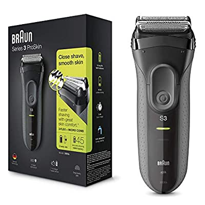 Braun Series 3 ProSkin 3000s Electric Shaver Rechargeable and Cordless Electric Razor for Men, Black from Procter & Gamble