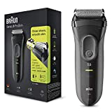 Braun Series 3 ProSkin 3000s Electric Shaver Rechargeable and Cordless Electric Razor