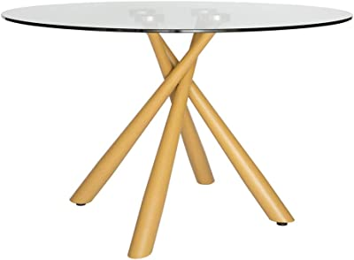 Weber Collection | Round Glass Dining Table | 120cm