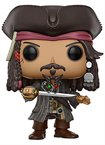 Piratas del Caribe Jack Sparrow minifigure Funko Pop Vinilo 10cm