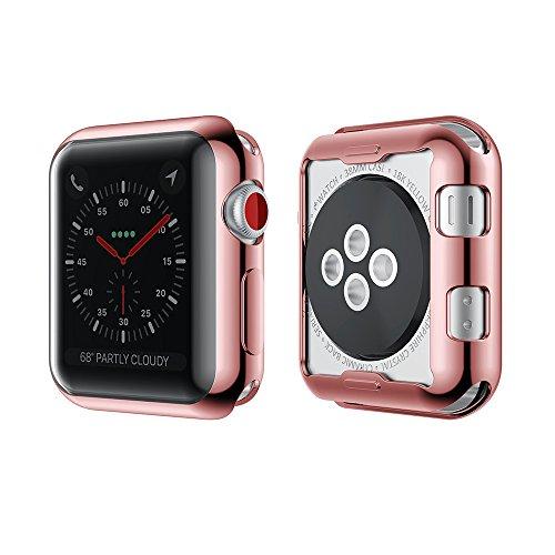 NotoCity Apple Watch 38 mm Cover Resistente Custodia AntiGraffio Proteggi Schermo TPU Durevole Pellicola Protettiva Protezione Completa Ultra Morbido per iWatch Case per Apple Watch Series 2 Series 3