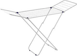 ZKKAW Indoor Airer, Folding Hanging Clothes Drying Rack Foldable Saving Space Racks Rapid Drying Clothes Rack Rack Use for Airing Clothing Indoors