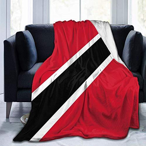 1111 Fleecedecke mit Flagge von Trinidad & Tobago, leichte Decke, superweich, gemütlich, warm, für Wohnzimmer/Schlafzimmer, alle Jahreszeiten, 127 x 101,6 cm