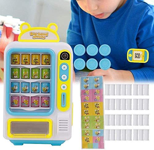 Oyunngs Kinderautomat, Rollenspiel Einkaufsspiel Lernspielzeug für Kleinkinder Feinmotorik(Blau)