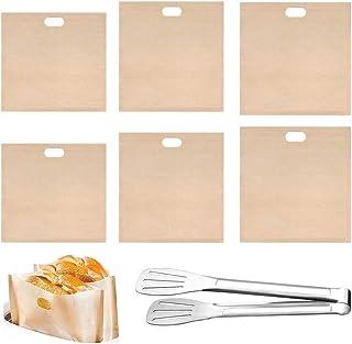 Toastie Tassen voor Broodrooster, Herbruikbare Broodrooster Zakken Geroosterde Sandwichzakken FDA Goedgekeurd Hittebestend...