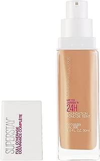 Maybelline Super Stay Full Coverage Liquid Foundation Makeup, Golden, 1 Fl Oz