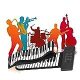 TTLIFE Roll Up Piano, 88 teclas, teclado de piano eléctrico, instrumento de música electrónico plega...
