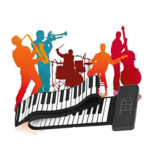 TTLIFE Roll Up Piano, 88 Tasten E-Piano-Tastatur, tragbares faltbares elektronisches Musikinstrument, Digitalpiano, mit 128 Arten von Sound Hand Roll Piano für Kinder Kinder Anfänger