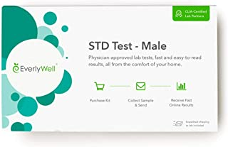 Everlywell Male STD Test at Home Discreet Test for 7 Common STDs - Accurate Blood and Urine Analysis - Results Within Days...